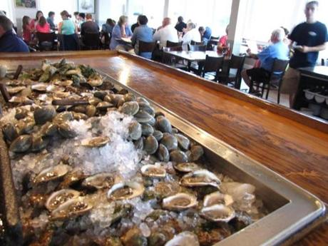 Shucked and not, the oysters waiting at Matunuck Oyster Bar draw lunch (and dinner) patrons all year round.